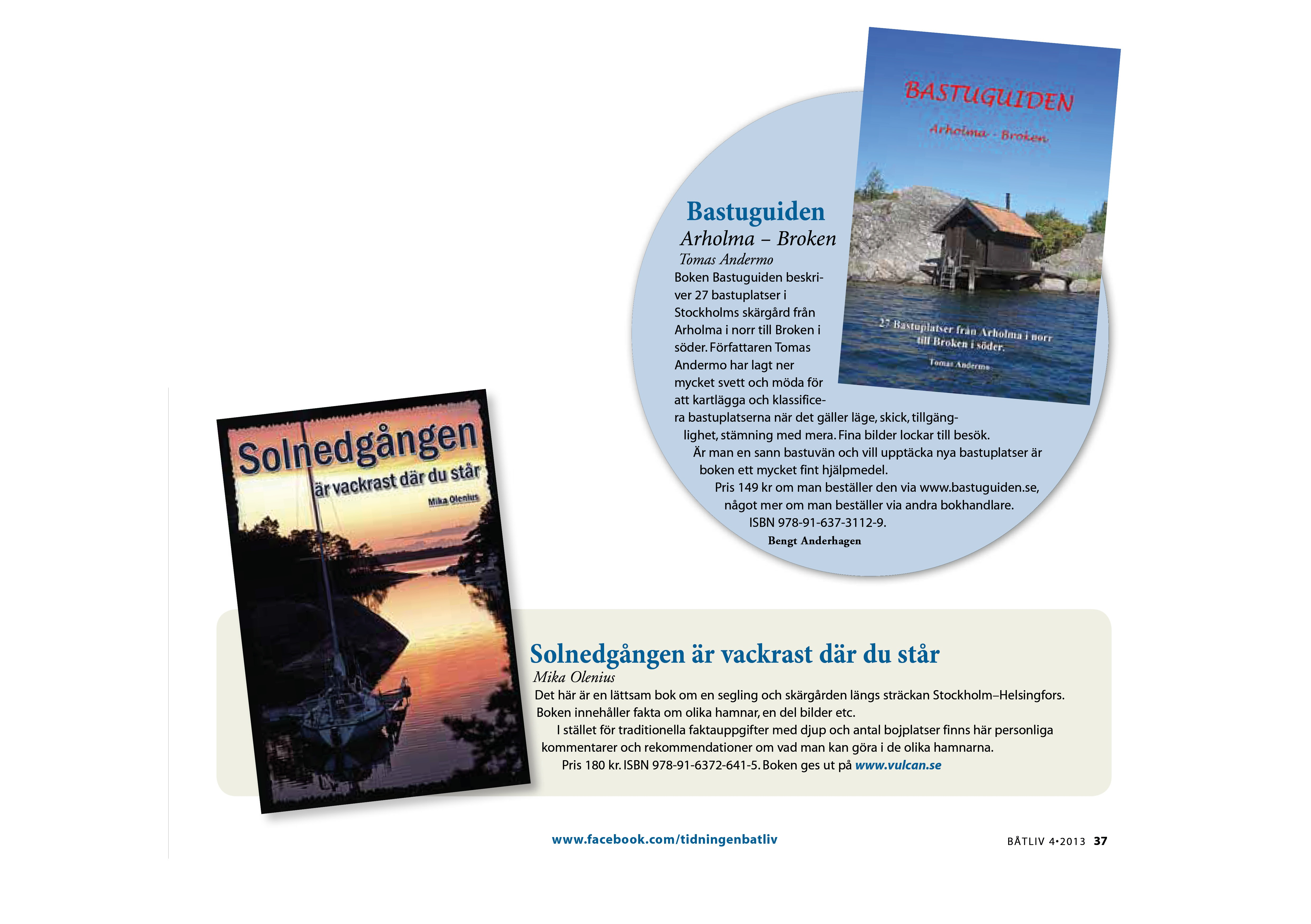 Personliga böcker uppmärksammas av tidningen Båtliv
