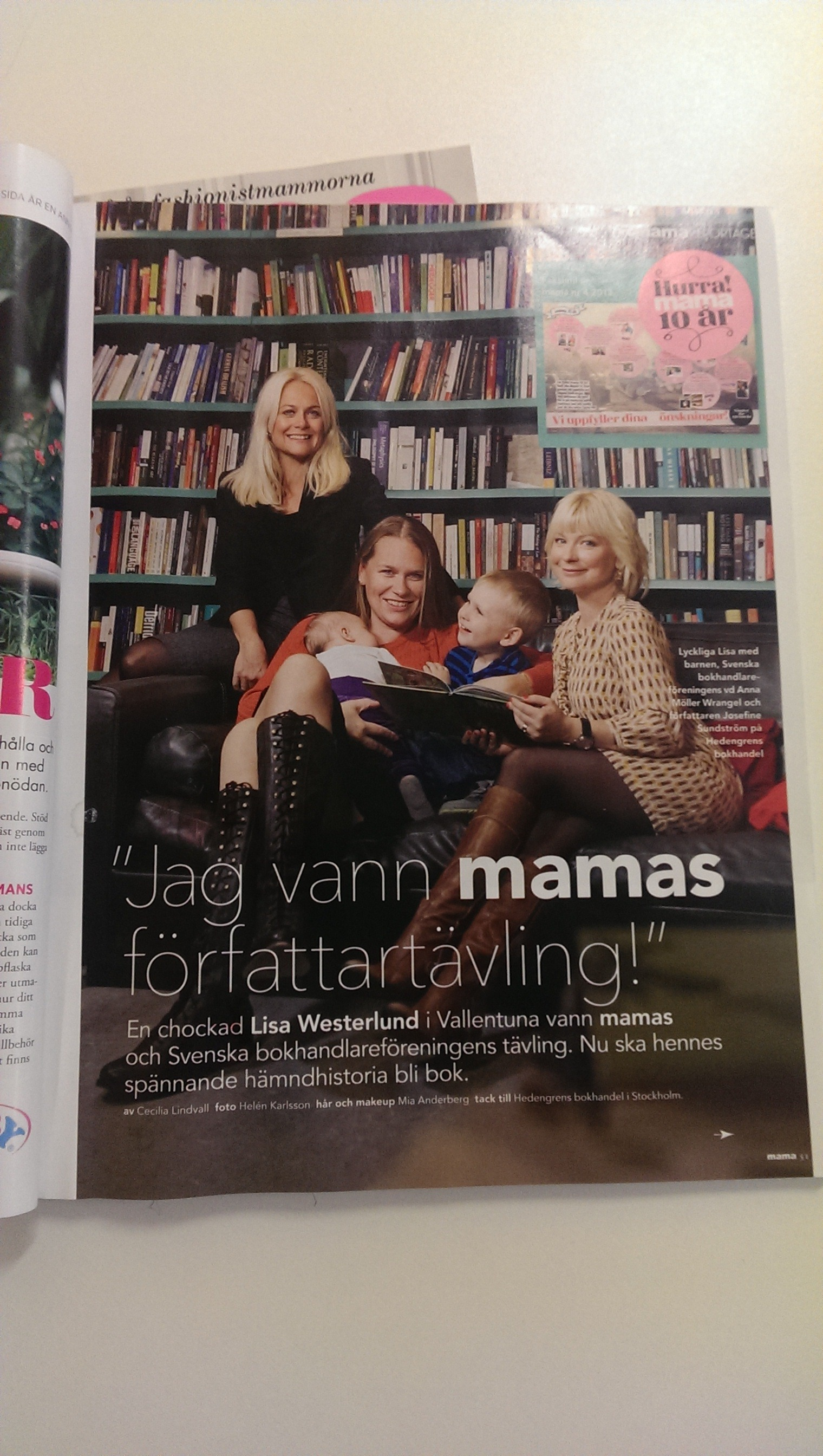 Lisa Westerlund vann mamas tävling