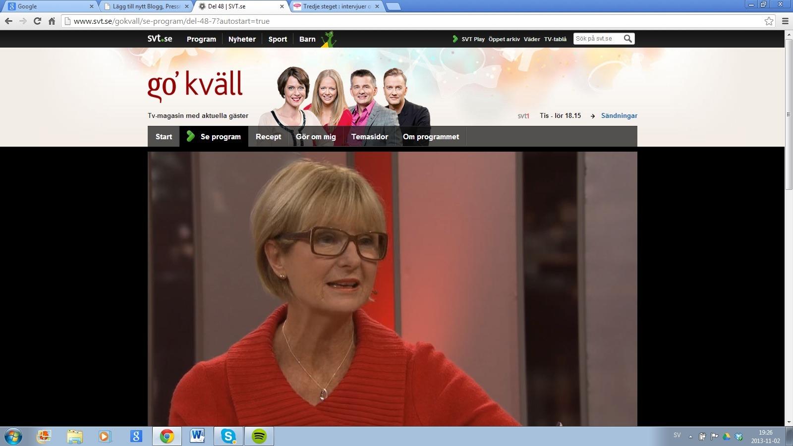 Vulkanförfattare på SVT