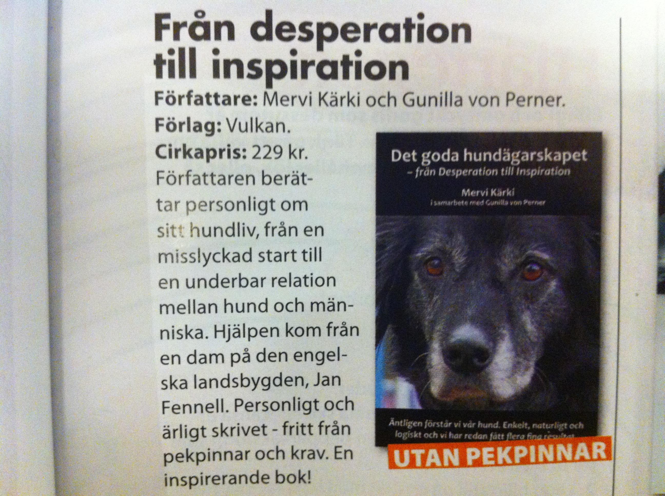 Det goda hundägarskapet - från Desperation till Inspiration av Mervi Kärki & Gunilla von Perner