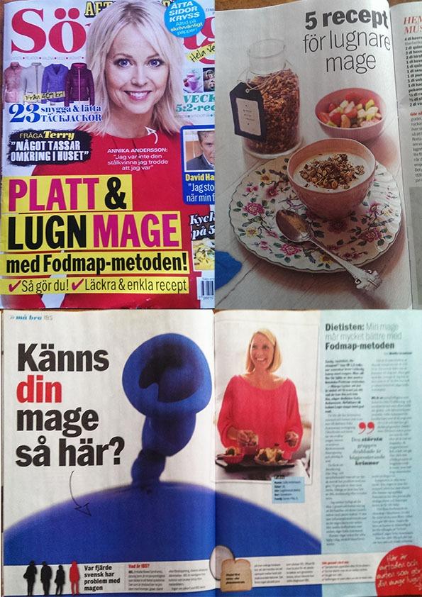 Vulkanförfattaren Sofia Antonsson pratar foodmap-metoden i Aftonbladet Söndag