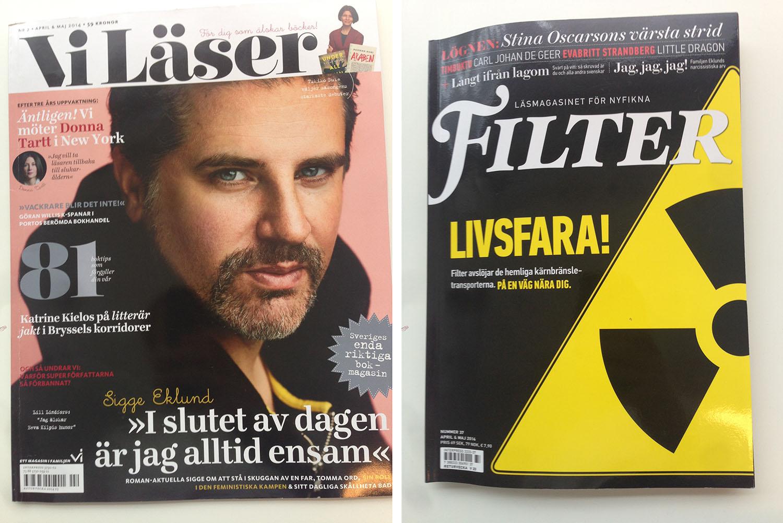 Sigge Eklund är med i både Filter och Vi Läser