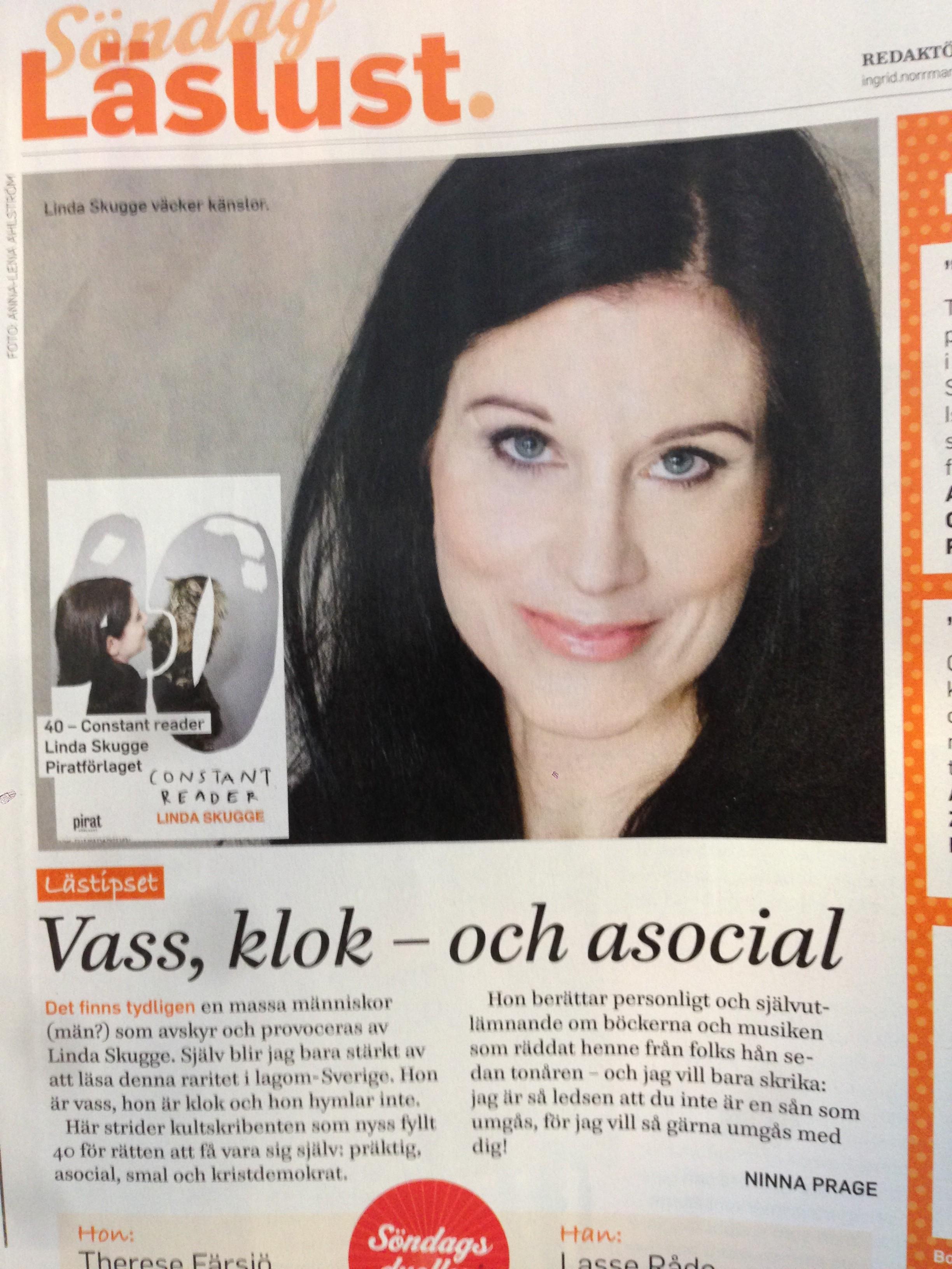 Vulkangrundaren Linda Skugge uppmärksammas med sina senaste böcker i medier.