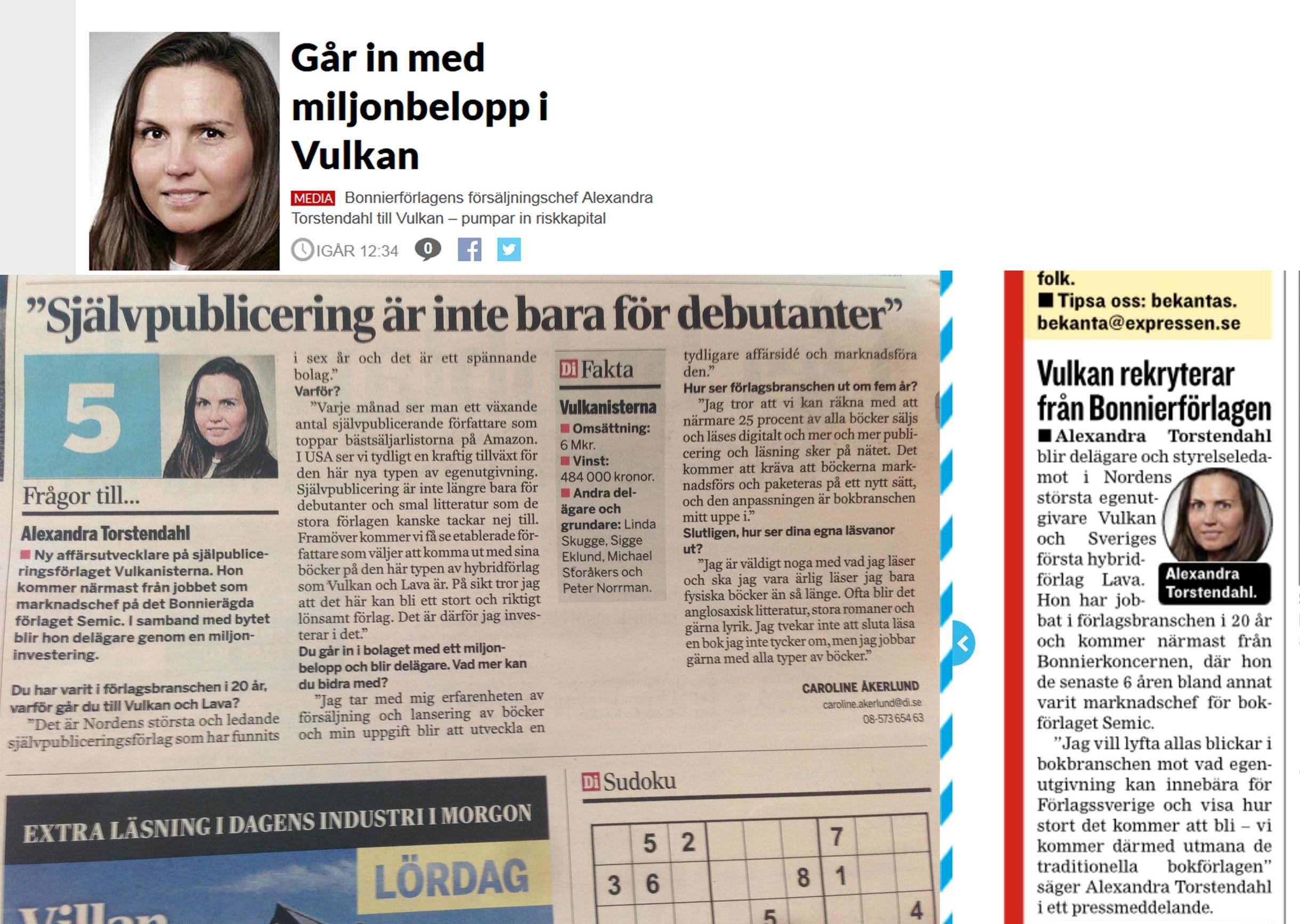 Kul för Alexandra Torstendahl med uppmärksamhet!