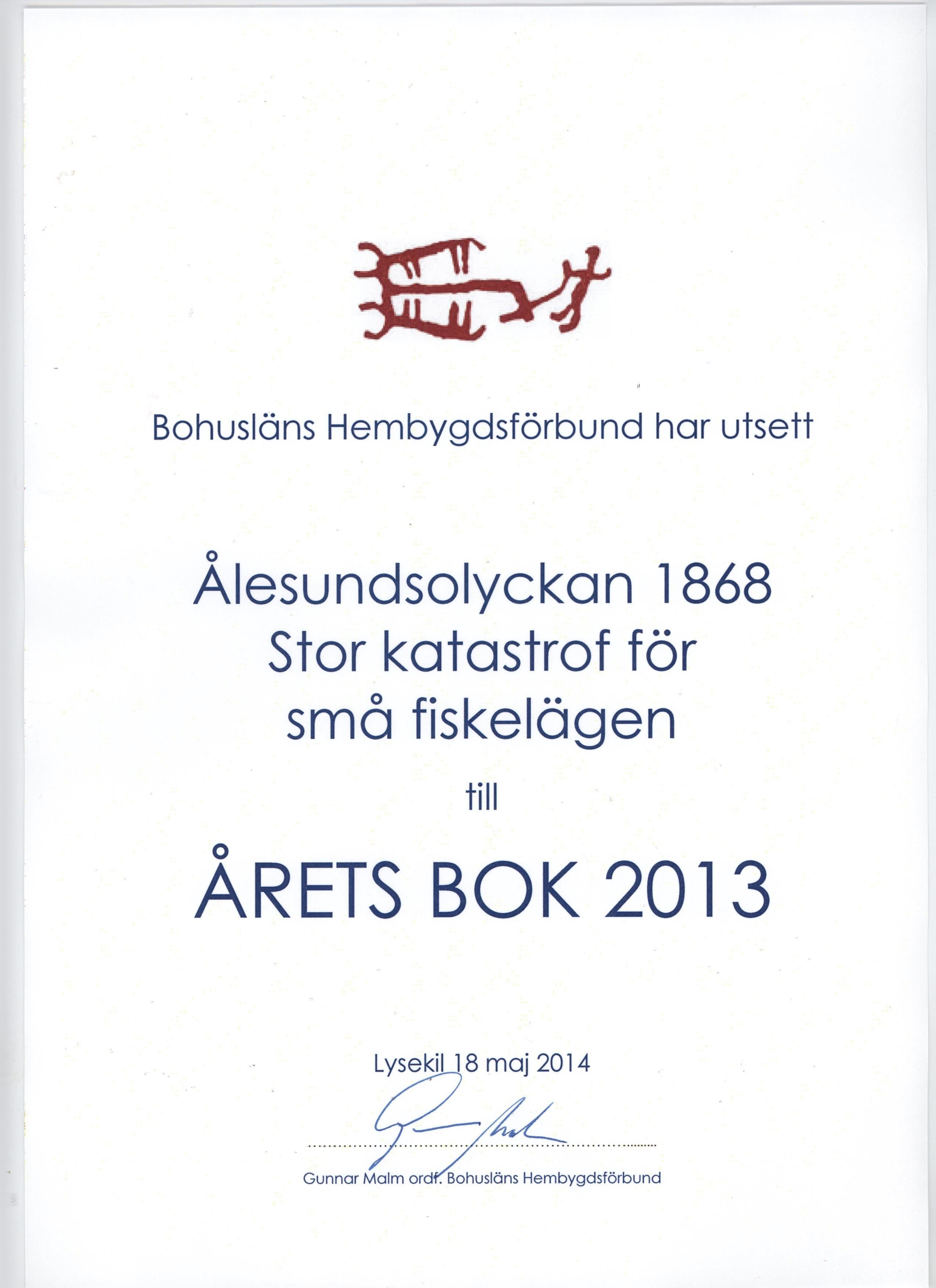 Ålesundsolyckan vinner Årets bok 2013