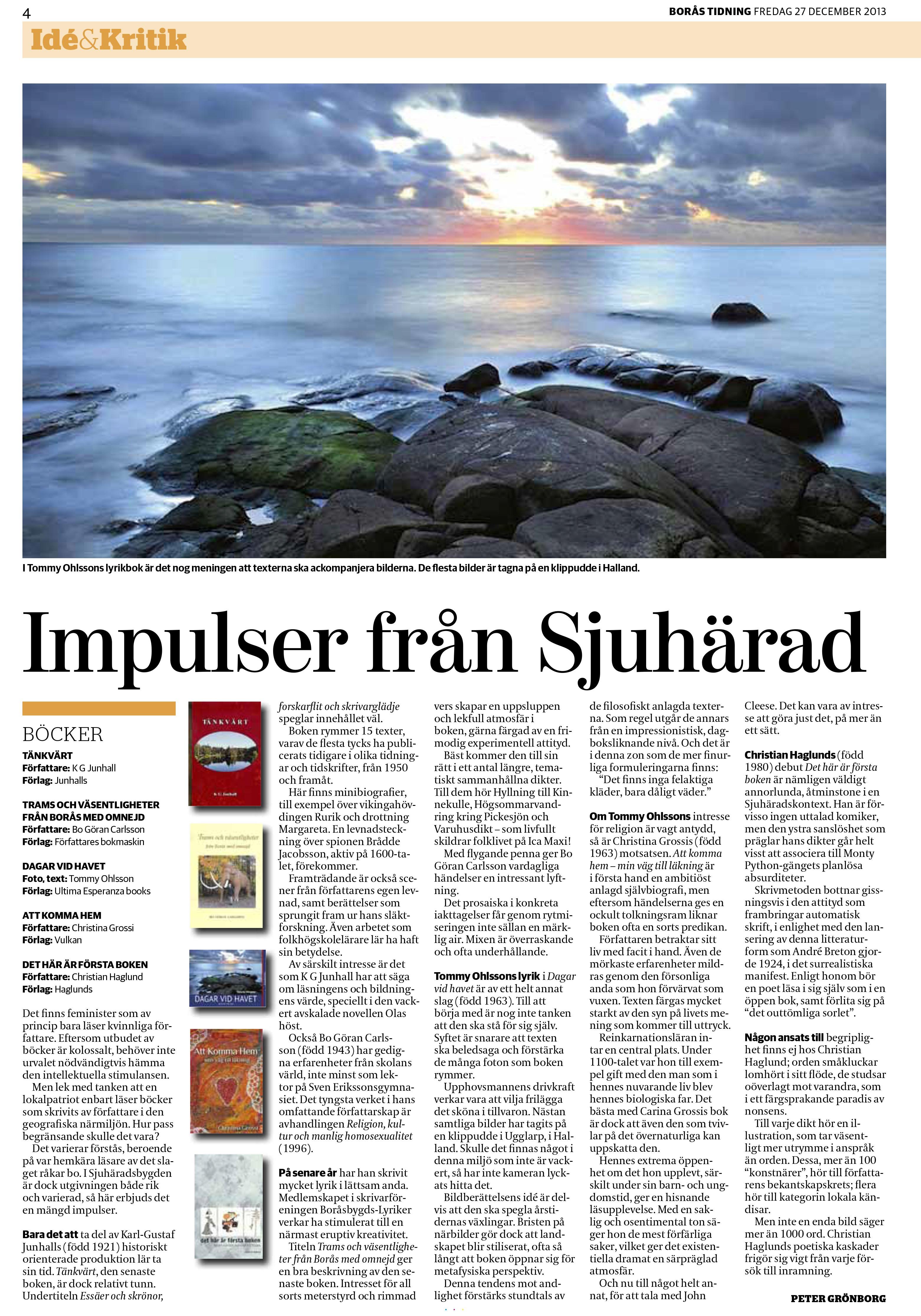 Att komma hem får fin recension i Borås tidning