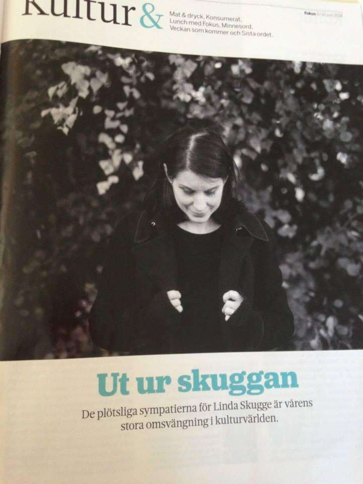 Linda Skugge i senaste numret av Fokus
