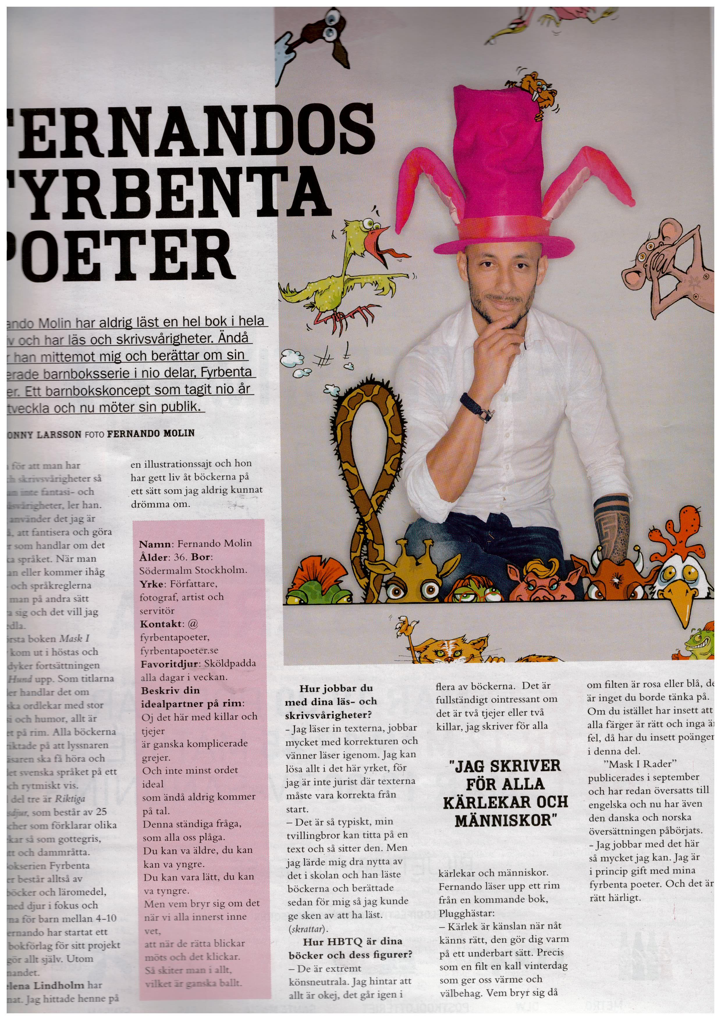 Fernando Molin intervjuad i QX!
