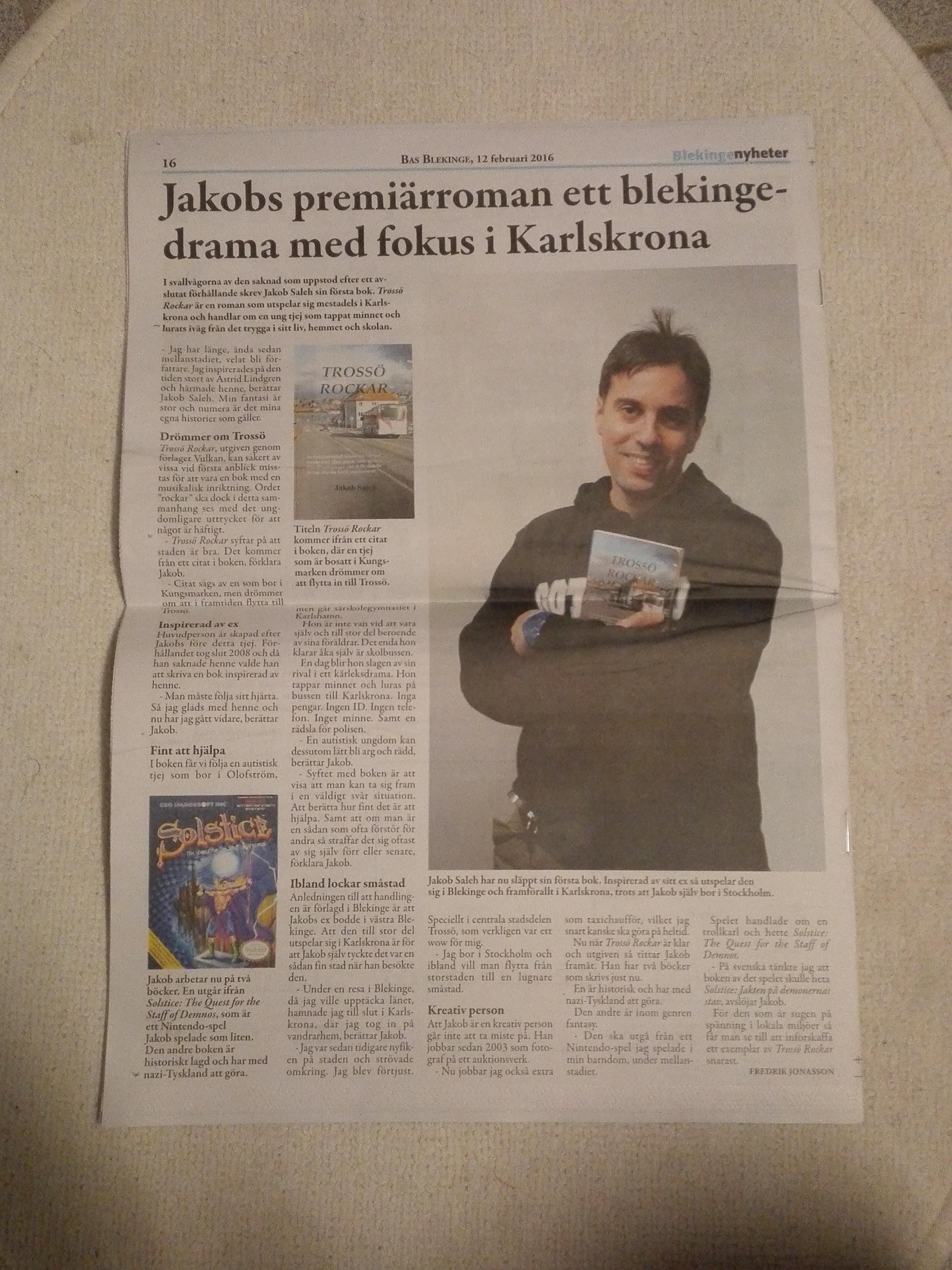 Jakob Saleh intervjuad i Bas Blekinge