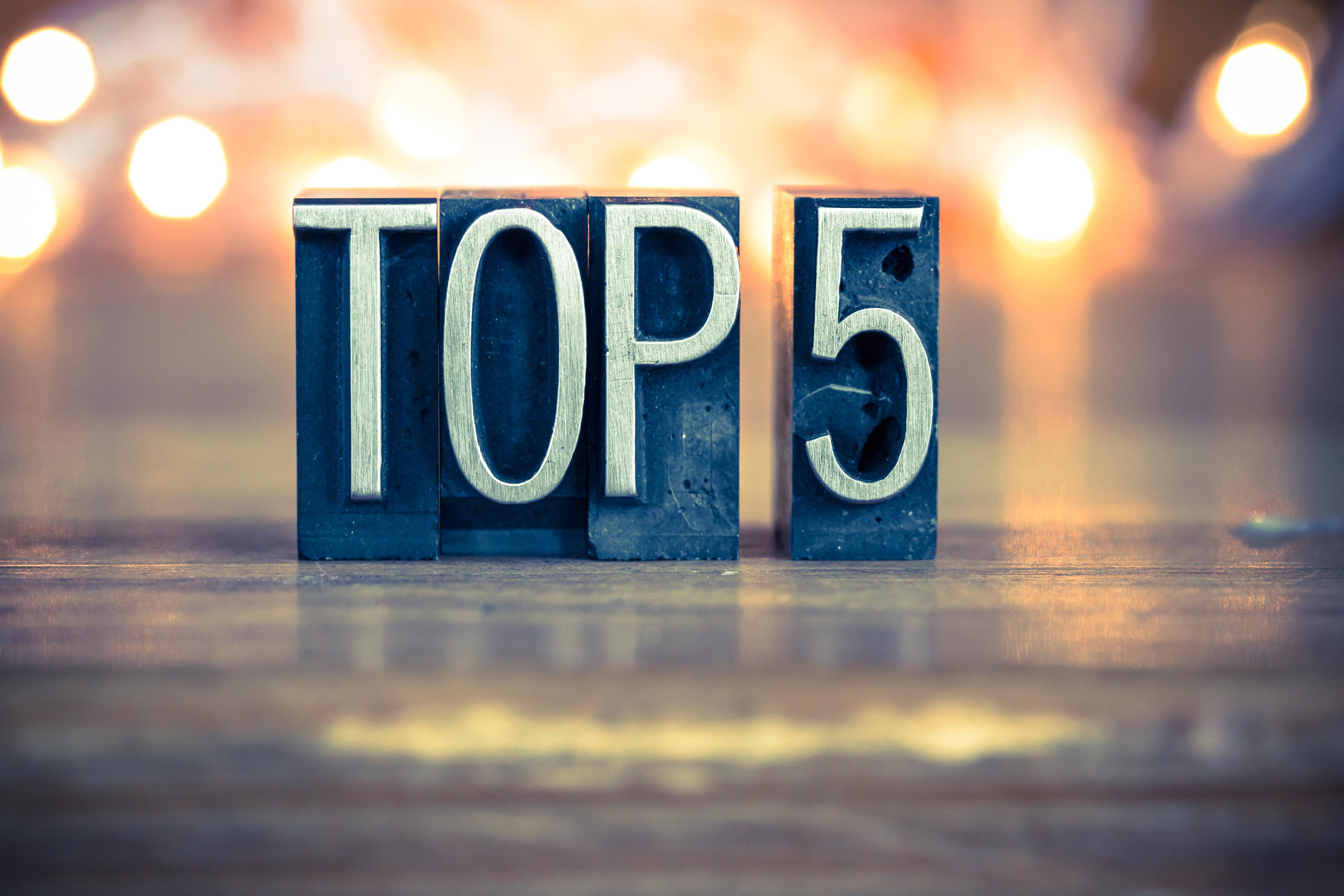Selmapriset 2017 - Topp 5