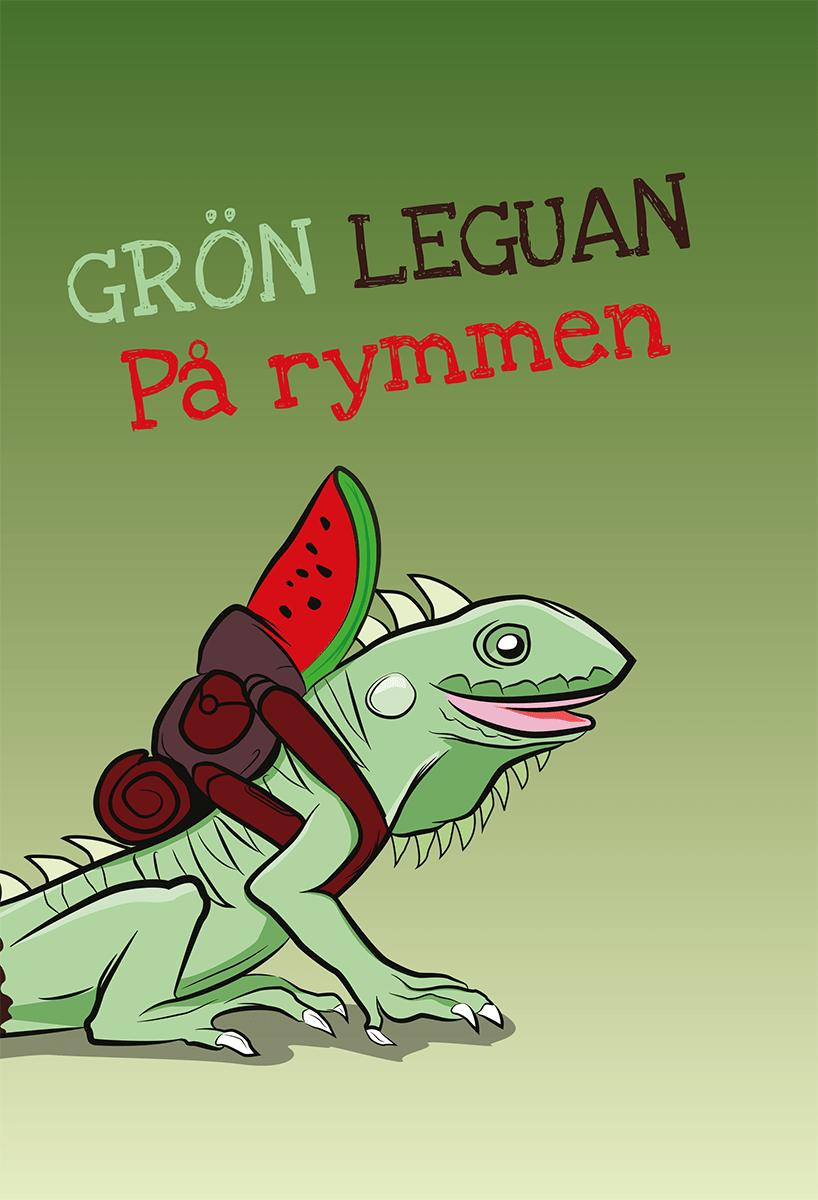 Grön leguan av Birgitta André